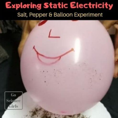 Exploring Static Electricity with salt, pepper and balloon