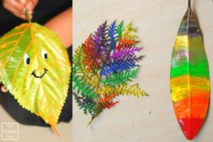 Tracing Veins of Leaves - Kids Painting activity