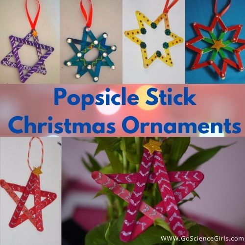 Popsicle Stick Christmas Tree Decoration Ornaments