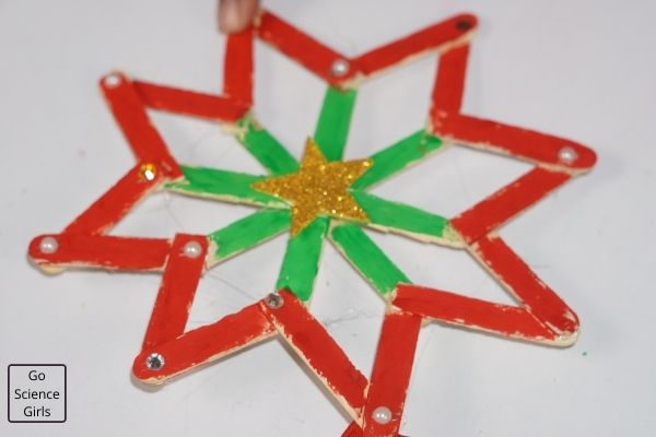 Popsicle Stick Christmas Ornaments Star