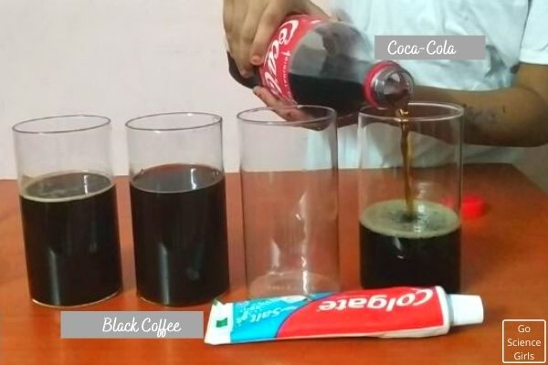 Pour Coca Cola Into Glass cups