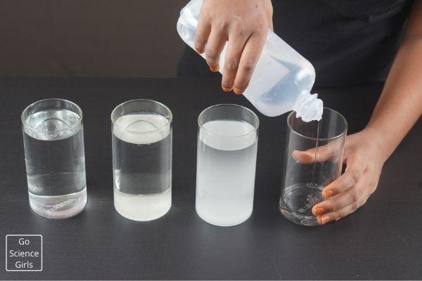 Add Saline Water InTo Glass Jar
