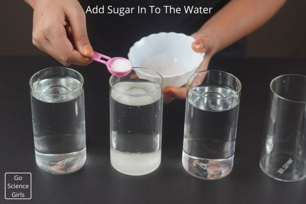 Add Sugar In To The Water