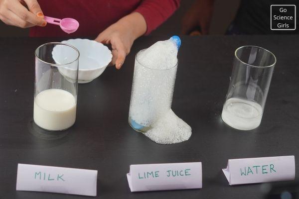 Add Vinegar To Milk Glass