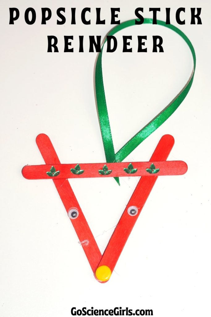 Ornament Popsicle Stick Reindeer
