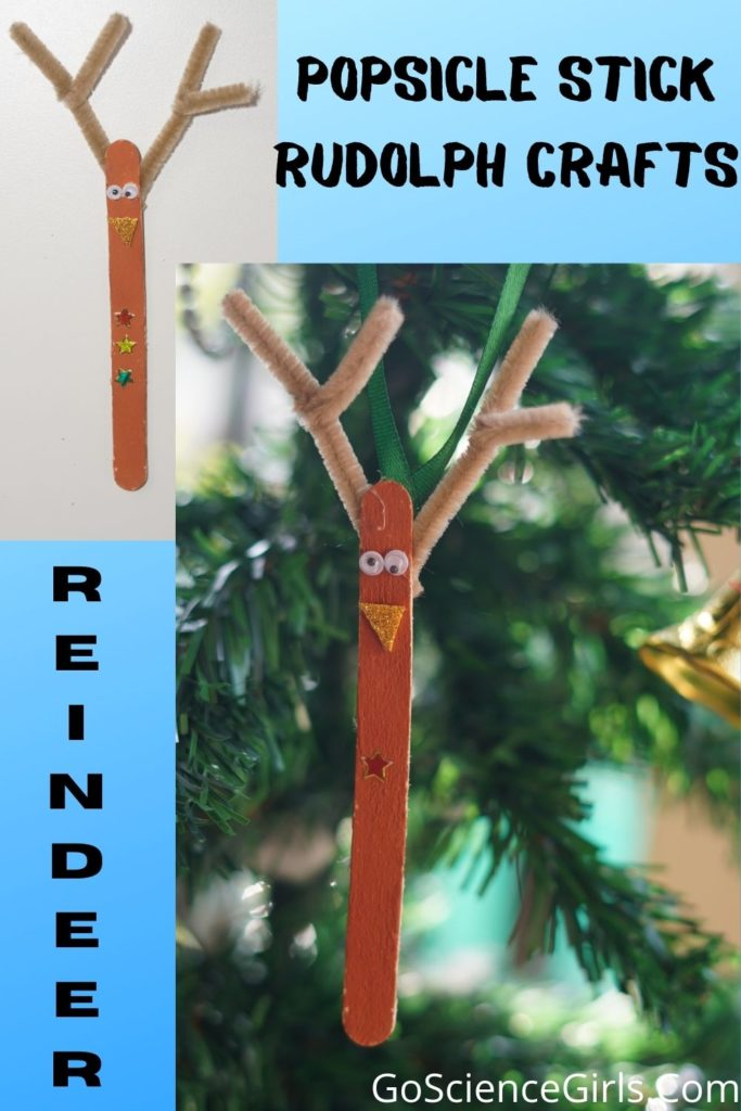 Popsicle Stick Reindeer Easy Crafts For Christmas
