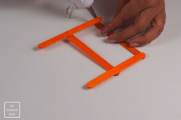 Popsicle Stick Reindeer Orange
