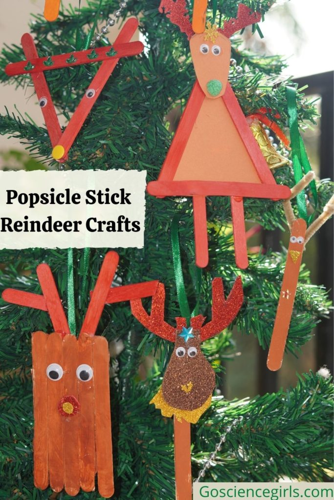 Popsicle Stick Reindeer Simple Crafts For Christmas