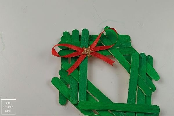 Popsicle Stick Wreath Christmas ornaments