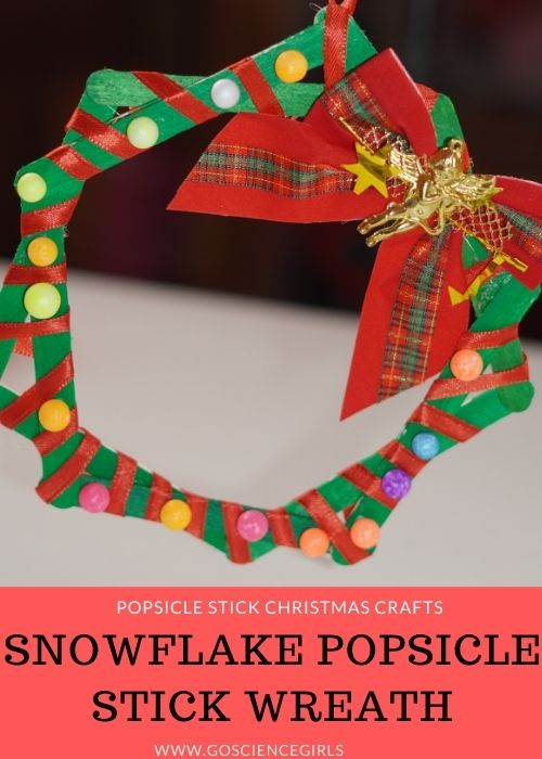 Snowflake Popsicle Stick Wreath