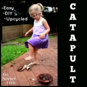 Easy Upcycled Catapult {STEM goes green}