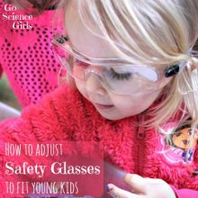How to adjust safety glasses to fit toddlers & young kids