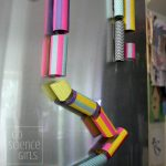 DIY Magnetic Marble Run for the Fridge Door