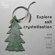 Make a 'snowy' salt crystal tree ornament